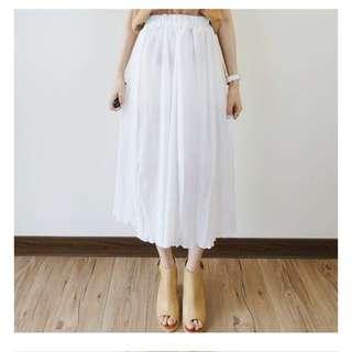 白色好搭防曬長裙