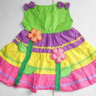 Rainbow Dress For Baby Girl