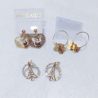 Earrings 3 For RM15