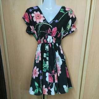 Warehouse Silk Floral Dress UK6