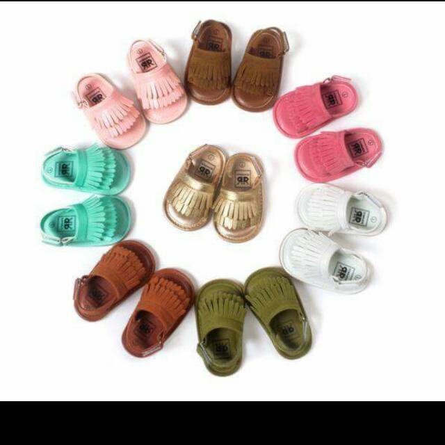 寶寶流蘇鞋 梅紅13cm