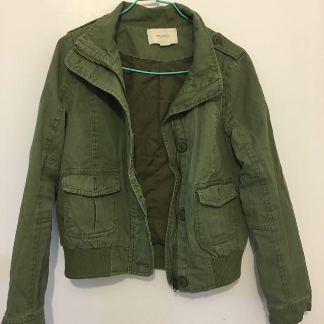 復古墨綠夾克
