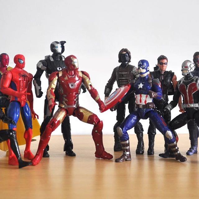 漫威 美國隊長3 英雄內戰 老玩具公仔
