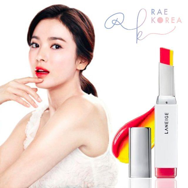 韓國 蘭芝 超放電絲絨雙色唇膏