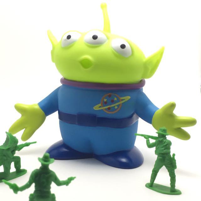 迪士尼 玩具總動員 三眼怪 阿三 三眼仔 軟膠 公仔