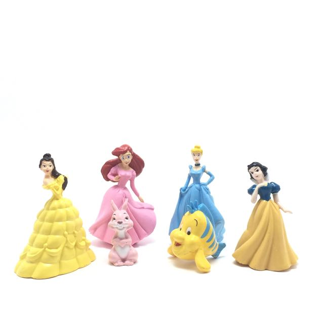迪士尼 公仔 公主 白雪 小美人魚 貝兒 小比目魚 灰姑娘