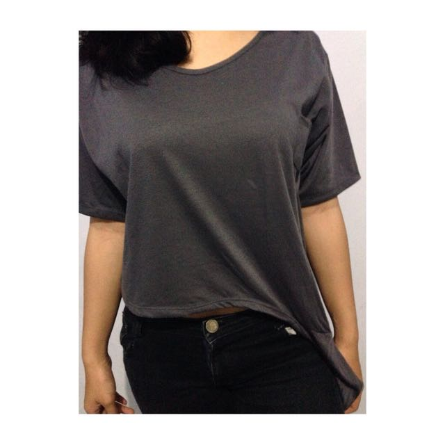 Big Jill Grey Crop Tee