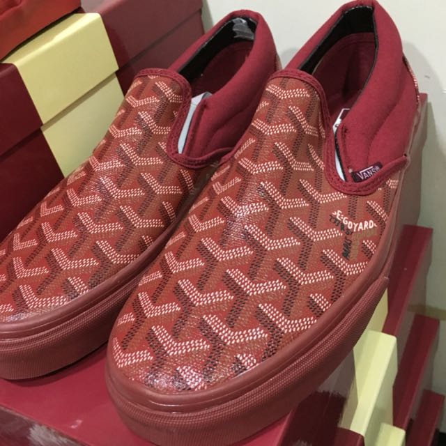Christopher Wanton Goyard X Vans 懶人鞋 紅色