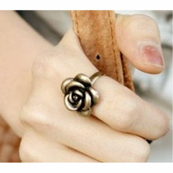 cincin bunga kembang / flower ring jewelry import korea - fas048