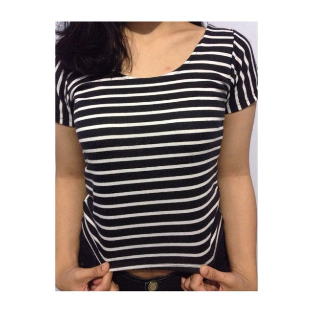 Crop Tee Stripes