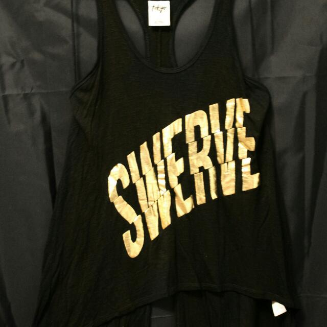 Gold & Black Swerve Tank Top