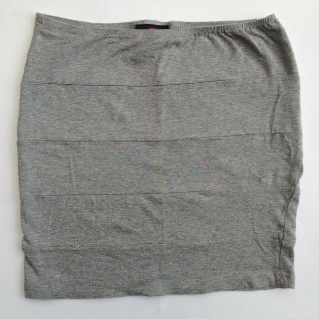 Grey Bandage Mini Skirt