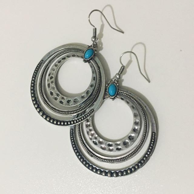 Boho Inspired Round Earrings