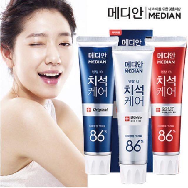 韓國median 86%強效淨白去垢牙膏