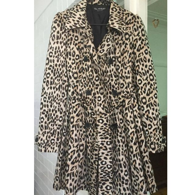 Miss Selfridge Leopard Print Jacket/Coat Size 12