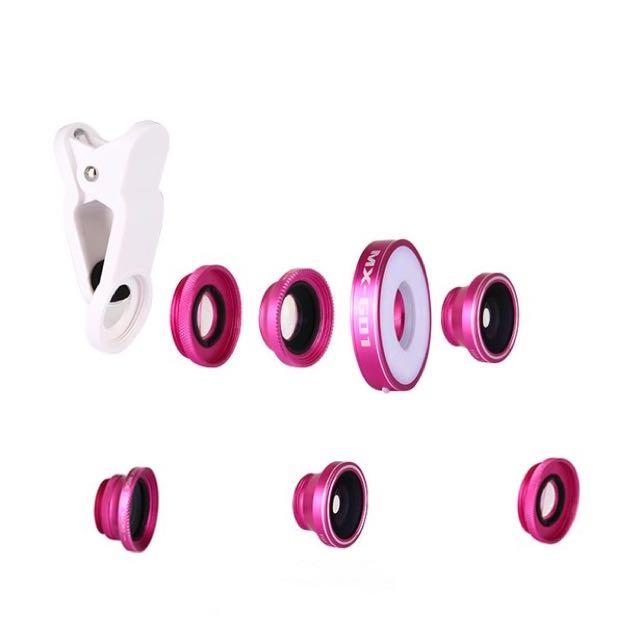 MX-601美顏自拍補光燈+魚眼廣角微距6合1套裝