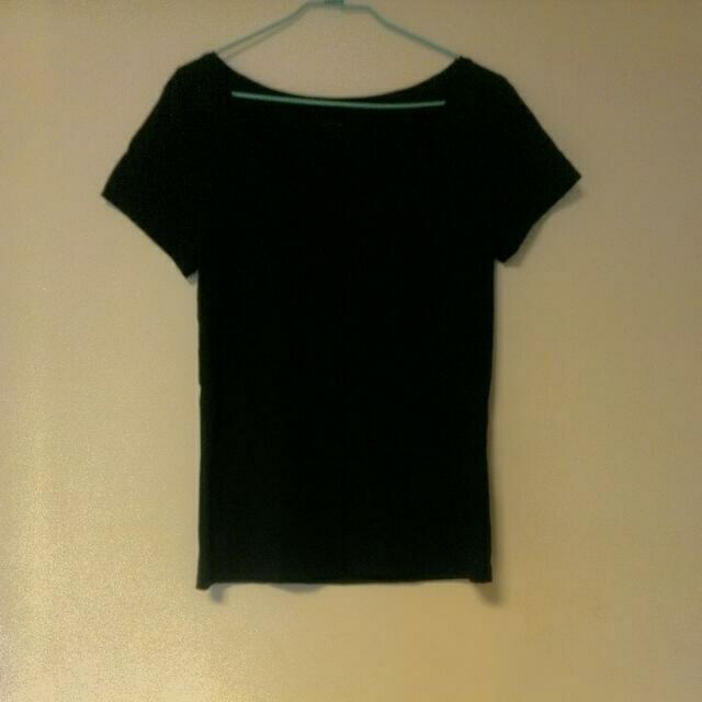 NET 黑色棉上衣(L)