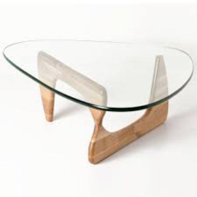 SALE Noguchi Inspired Coffee Table Modern Natural Wood Triangle - Noguchi inspired coffee table