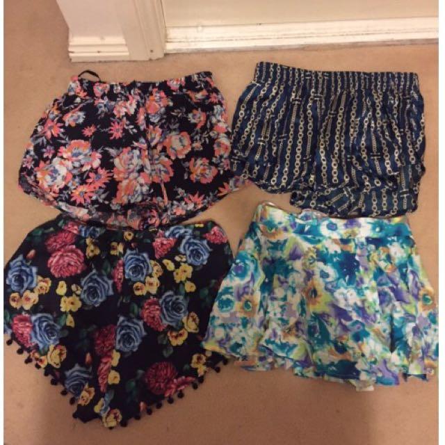 Small Size Printed Shorts