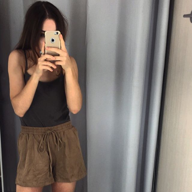 Suede Tan Shorts