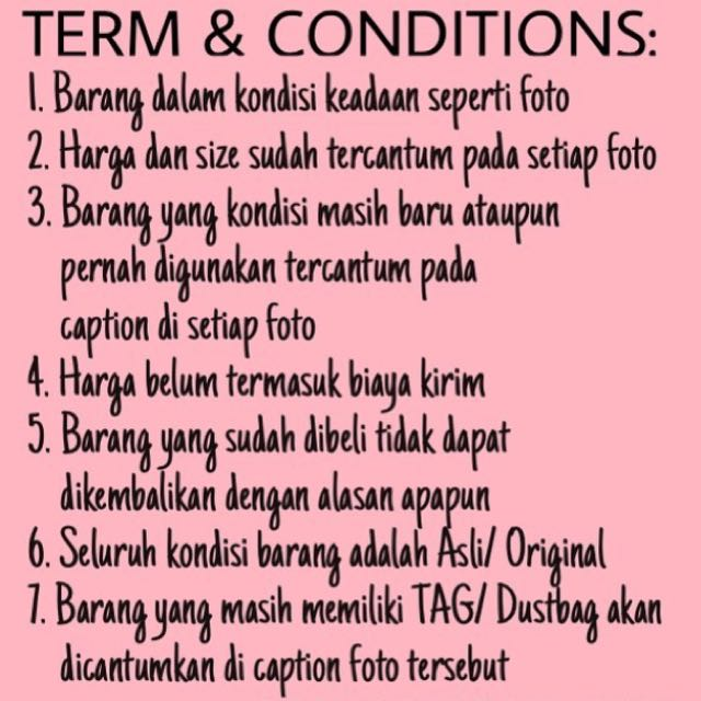 Term & Conditions