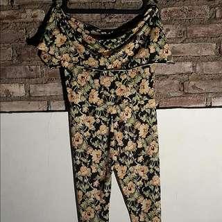 Jumpsuit Flower 7/8 Spandex Korea