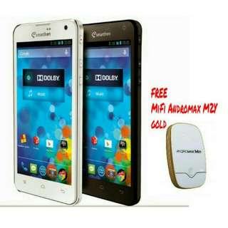 Smartfren Andromax i3 + Bonus MiFi Andromax M2Y 4G LTE GOLD