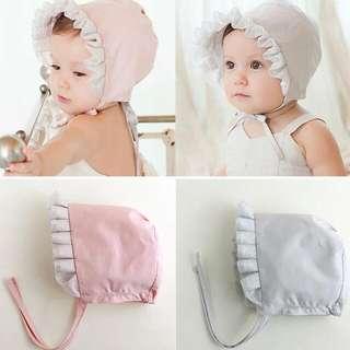 韓版新寶寶帽 宮廷帽 嬰兒帽 可愛公主帽 春夏秋 蕾絲帽