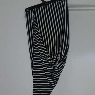 Black & White Striped Skirt Size S