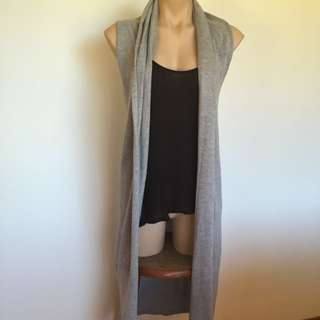 Littlelies Sz10-12 Long Sleeveless Cardigan
