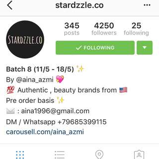 Pre Order Authentic Beauty Products From The US