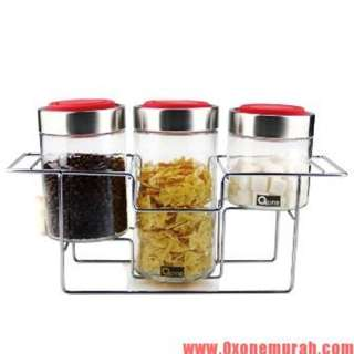 Toples Kaca Set Oxone (Multi Glass Jar Ox 305R)