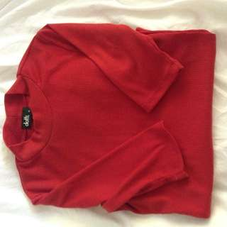 Red XS ribbed Top