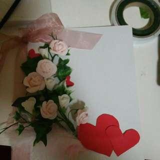 Handmade Card / Board For Wedding