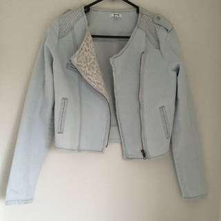 Denim Lace Jacket