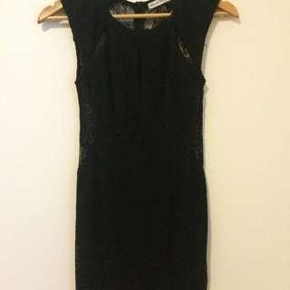 Black Lace Dress (XS / Size 8)