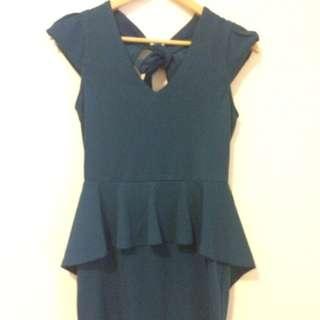Teal Peplum Dress (CS / Size 8)