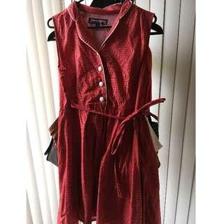 Princess Highway Red Spot Sleeveless Dress