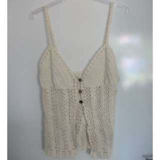 open crochet top