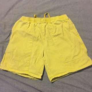 Rugged Yellow Shorts (size 77)