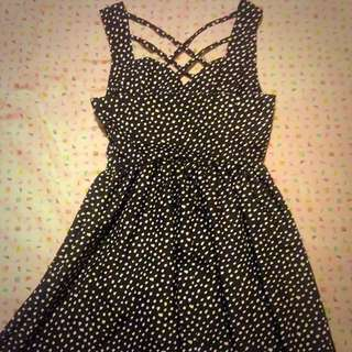 Black spotted Dress (By Charcoal White) Size 8