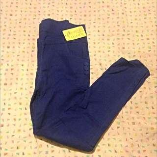 Blue Stretchy Pants. Size 8,10,12.