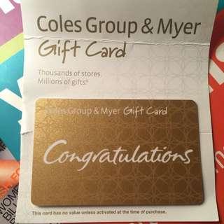 Coles/Myer $50 Voucher