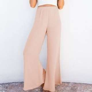 Nude Long Flared Lose Pants Size 6