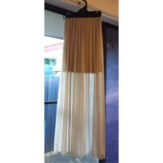 Maxi Sheer Skirt - Champagne Size 6