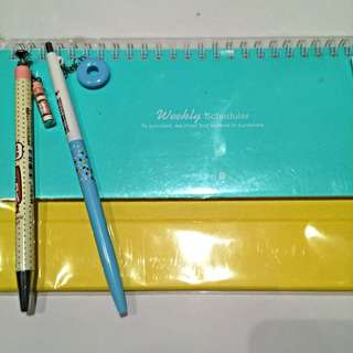 Weekly Scheduler And Pens