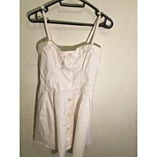 (BN) White Flare Dress (strapless dress)