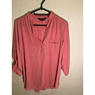 (BN) Pink Basic Oversized Blouse