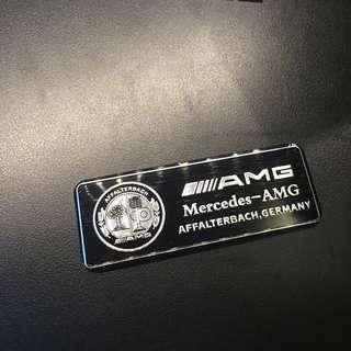 Steel Mercedes Benz AMG badge