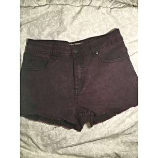 (BN) Purple High Waisted Shorts